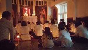 Berdoa di kapel St. Joannes Baptista